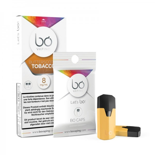 BO Vaping Cap Butterscotch Tobacco 2er Pack