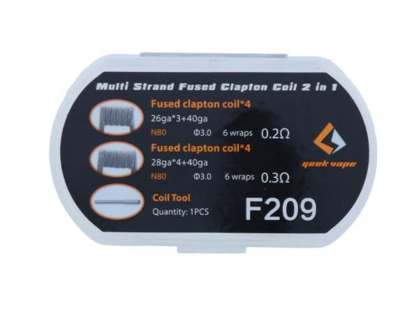 Multi Strand Fused Clapton Coil F209 2 in 1 Set