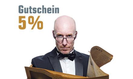 5 % Prozent Rabatt für Neukunden