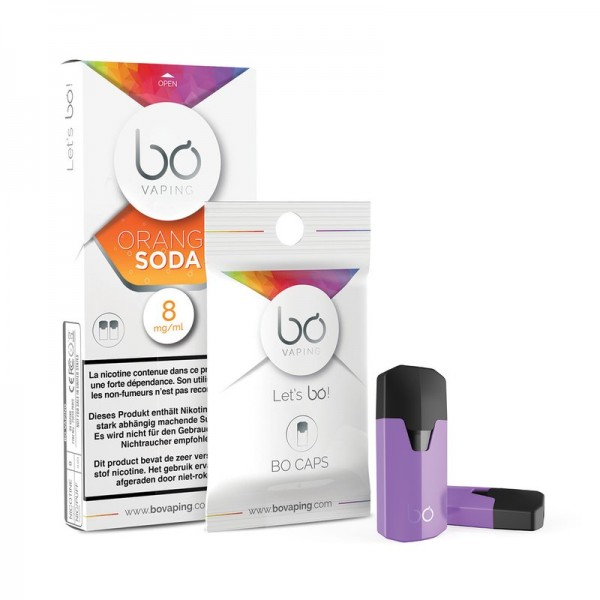 BO Vaping Cap Orange Soda 2er Pack