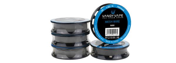 Vandy Vape Kanthal A1 Mesh Wire 80 Wickeldraht - M1